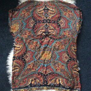 Angie Tops - Angie hippie boho paisley v neck tunic rayon top